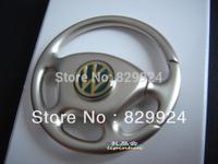 2pcs/lot free shipping vw car Key chain auto logo key rings