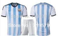 Argentina Jersey MESSI AGUERO ZANETTI HIGUAIN MARADONA 2014 Brazil World Cup argentina home away blue football Soccer jersey Kit