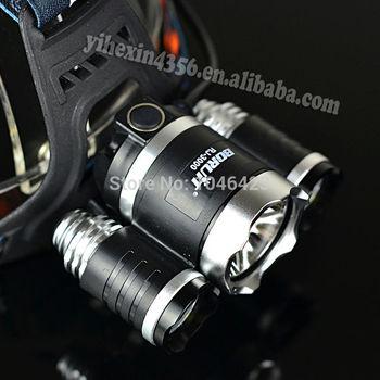 Кри из светодиодов фары 5000 Lumens 3x нью-cree XM-L 3T6 из светодиодов фары фара ...