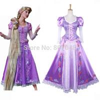 OISK New Arrival Rapunzel Princess Dress Movie Costume Cosplay Halloween Party Dresses
