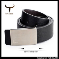 high quality jeans men plate buckle belt 2014 mens cow real genuine leather belts for men free ship dropshipping Z031