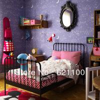 Quality Noctilucent Wallpaper Luminous Non-woven Wallpaper Children Kids Room Bedding Room Wallpaper Stars Shining Wallpaper