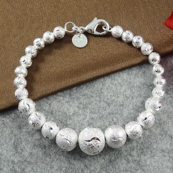 925 Silver Bracelet Strand Beads Charm Bracelets 925 Silver Bracelets & Bangles ...