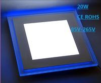 20W Square 5730/3528 White/Blue LED Panel Light Ceiling Light Lamp 85-265V LED0287 Free shipping