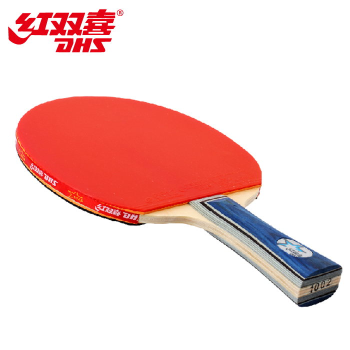 Free Shipping Best PingPong racket Double Happiness Table Tennis Racket Ping Pong table for Long handle table tennis bat(China (Mainland))