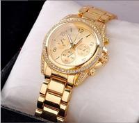 famous brand M women rhinestone watches  men casual quartz military wristwatches sport men watch full steel army lady watch