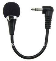 Free shipping!K song 3.5mm mini notebook mini computer  microphone mini bendable MIC