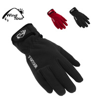 Wind tour autumn and winter thermal ride double layer thickening windproof fleece outdoor gloves male Women