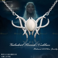 Min Order $5 (Mix Order) The Hobbit An Unexpected Journey Galadriel Pendant Necklace Movice Lord of The R Elf Necklace