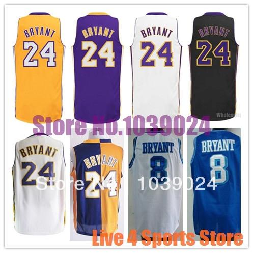 2014 NWT Kobe Bryant Jersey Los Angeles #24 Embroidery Basketball Jerseys Shirts PRO Cheap Wholesale Factory Price(China (Mainland))