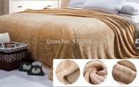 Brown Carved Fleece blanket soft throw bedspread frozen manta sofa quilts bed cobertores queen size 180*200cm air conditioning
