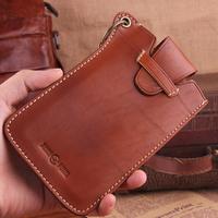 Genuine Leather Attachable New 2014 Men Wallets Vintage Calfskin Brand Wallet Casual Money  Purse Carterira TBG0105