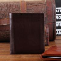 2013 New Genuine Leather Men Wallets Vintage Classic Cowskin Men Women Wallet Business Money  Purse Carterira TBG0108