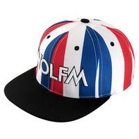The new Korean version of Lee Min Woo WOLFM letter tidal flat -brimmed hats hip-hop stripes baseball cap