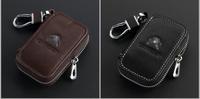 Top Genuine Leather Automotive Remote Control Bag For CITROEN C4 Picasso C4L C5 C6 C-Quatre C-Triomphe Elysee key Bag Key Case