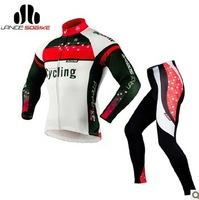 Hot Sale!2013 New SOBIKE  Winter Thermal Fleece Cycling Bicycle Bike Suits Long Jersey & Fleece Pants - Shock Wave 2 Colors