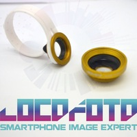 LOCOFOTO 2in1 Macro + Wide angle Universal Clip On Mobile Phone lens for iphone Samsung HTC Blackberry free shipping LF3924-3