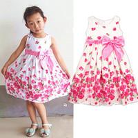 Girls dress Baby Girl Dresses Flower girl dresses cute dog style Dress 2014 New reta children's clothing kids dress summer