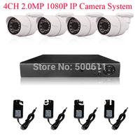 8CH H.264 NVR System Onvif 2.0 MegaPixel 1080P 1920x1080 25fps Network IP Camera 24 IR Camera 2TB HDD
