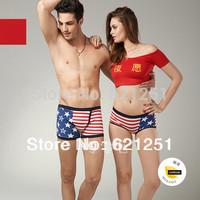 2014 new style Lovers underwear High quality fashion set of sale Men Women Couples cartoon underwear  briefsWomen's Boy Shorts