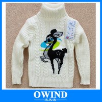 children winter girl's fashion Knitted bottoming shirts/sweater