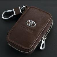 Genuine Leather Remote Control Bag Toyota RAV4 Corolla Camry Reiz Mark X Prado Highlander crown key Bag Key Case
