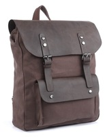 New Design Daily Real Leather And Canvas Leather Backpack 5PCS/LOT # 7196C