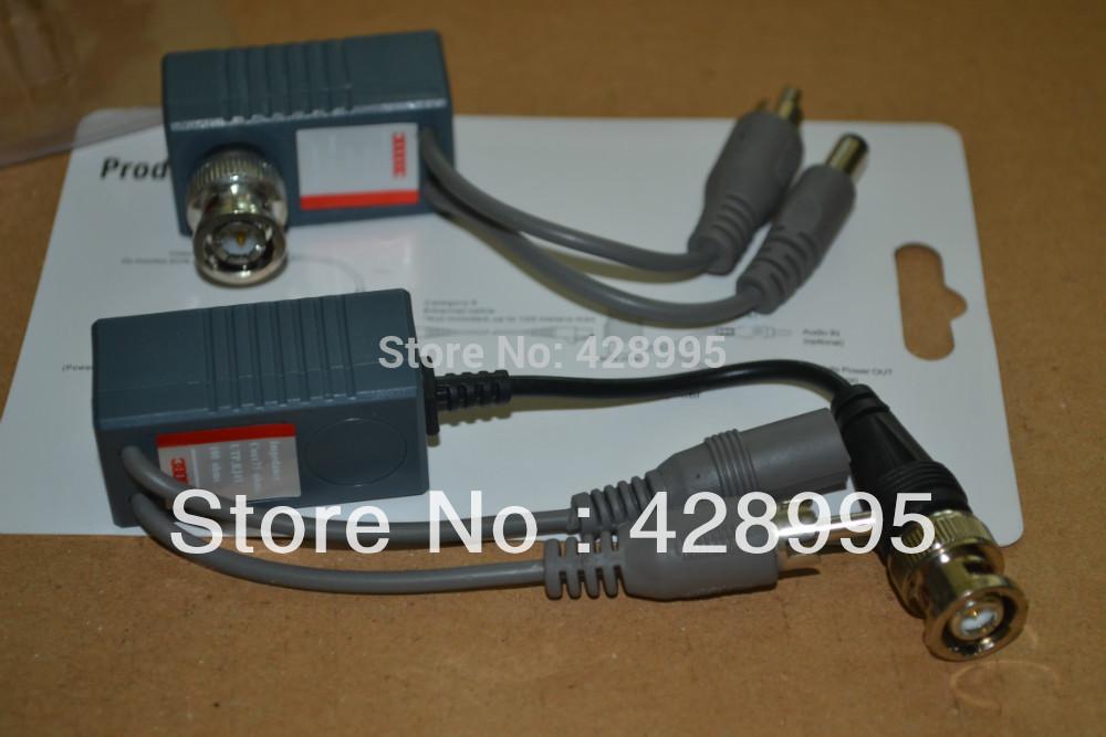 Freeshipping 10pcs CCTV Camera Audio Video Balun Transceiver BNC UTP RJ45 with Audio Video and