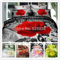 Wholesale  Hot sells 6 PCS Free Shipping 3d Classic home decor 3D Bed Linen 3d bedding set bedlinen duvet cover set