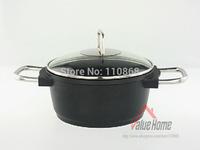 Cast Aluminum High Casserole Diameter 24cm with Glass Lid 2pcs Quality Cookware