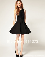 BLACK HOT SALE MAKER Hollow Out Bud Silk Sleeveless Perspective Women Dresses