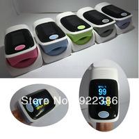 10 pcs/lot wholesale health care OLED display Fingertip Pulse Oximeter, Blood Oxygen SpO2 saturation oximetro monitor 5 color