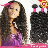 Human Hair Curly Weave, 3pcs/lot 6A quality brazillian curly hair, free shipping luvin hair virgin brazilian curly hair