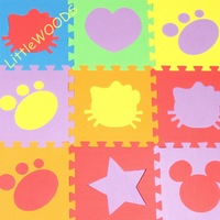 Free shipping New Cartoon EVA Floor Puzzle Baby Play mats Baby puzzle Foam mats 30cm*30cm*1cm 6pcs/lot