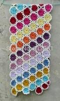 free shipping colorful crochet wool cotton Handmade crochet  flower square yarn blanket sofa towel blanket bed cover carpet