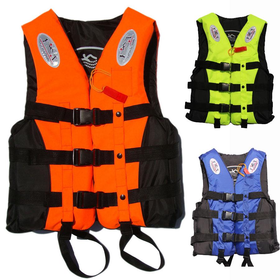 Adult professional life vest life jacket fishing swim vest, with belt,whistle,6 SIZES(China (Mainland))