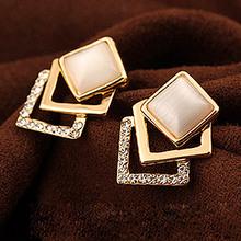 Free shipping 2013 fashion stud earring – eye stud earring cubic elegant stud earrings