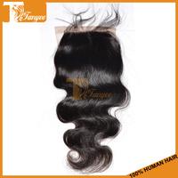 6A Brazilian Virgin Hair Weave Body Wave Lace Closure Silk Base Closure Free Middle Three Part Cheap Human Hair Top Closure