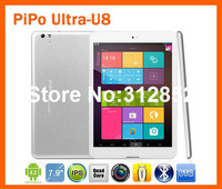 PiPo U8 RK3188 Quad Core Tablet PC 7.85 inch IPS 1024x768 pixels Android 4.2 2GB RAM 16GB Bluetooth HDMI  Free Shipping