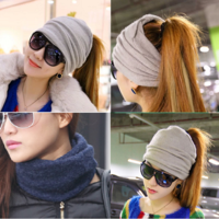 Woman new winter headscarf solid color elasticity ribbon headdress hair accessories