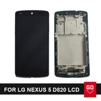 For LG Nexus 5 D820 Replacement LCD display Screen Digitizer Touch Screen Assembly With Frame + Tools