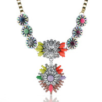 The new European and American big long sweater chain necklace sunflowers upscale jewelry exaggerated 115