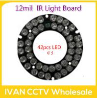 42pcs LED 12mil  IR Light Board for HD IP Camera
