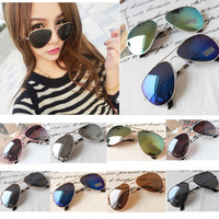 Details about NEW Classic Aviator Women Mens Silver Mirrored Lens Brown Gold Black Sunglasses