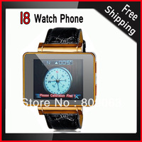 I8 Single SIM Card Quad band 1.8 inch Watch Mobile Phone with 0.3MP Camera, Bluetooth, FM Transmitter, Compass