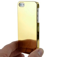 Hot Sale New for iPhone5s iPhone5 Gold Ultra Slim Chrome Hard Cover Case for iPhone 5 5S