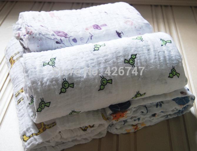 Livraison gratuite 100% coton tarlatane bébé. swaddles 120x120cm aden anais bambou, couverture. gym activite bébé serviette absorbante de fibres de couleur