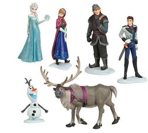 Free Shipping 6pcs/set Frozen Anna Elsa Hans Kristoff Sven Olaf PVC Action Figures Toys Classic Toys DSFG032(China (Mainland))