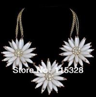 Free Shipping 1pcs/Lot Fashion New Design Women Statement Bib Sun Flower Huge Exaggerate Collar Big Necklace 2013281509