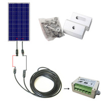 COMPLETE KIT 100W Solar Panel cells off grid system
